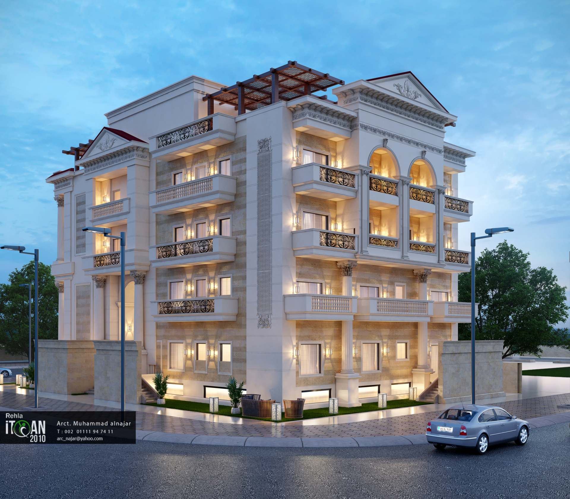 Classic residential building design itqan 2010 for Residential building designer
