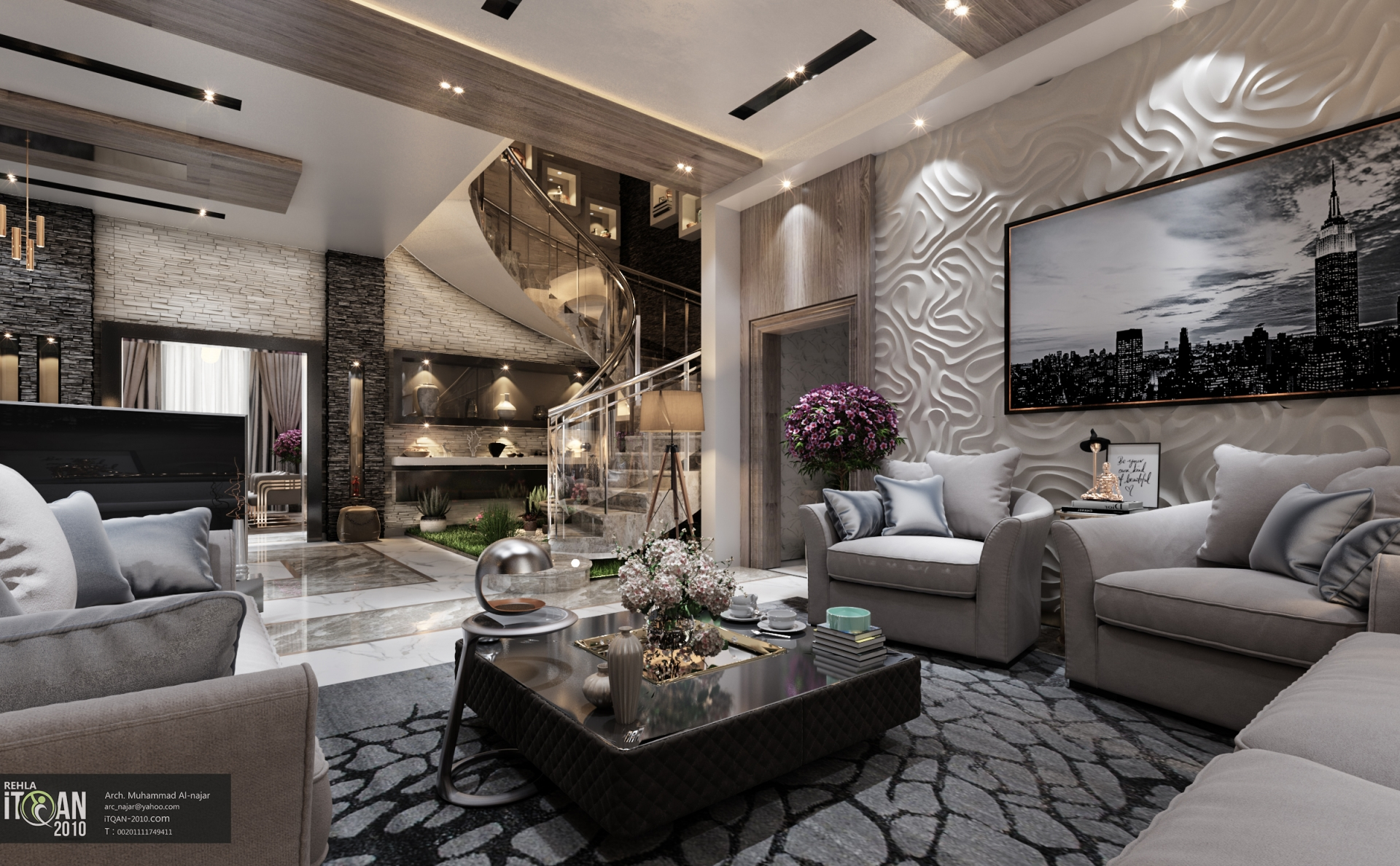 Luxury Living Room Design Ideas With Enticing Decor Inside: Luxury Living Room + Main Hall