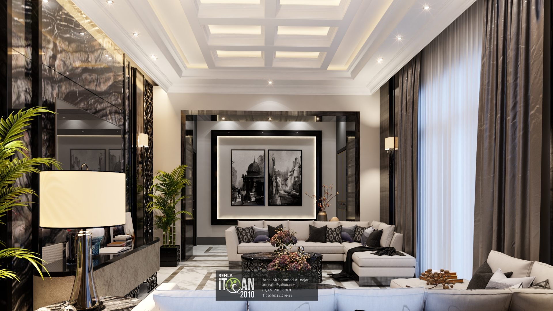 modern interior living room exclusive design | Post modern living room - UAE | ITQAN-2010